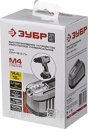 Зарядное устройство для аккумулятора, ЗУБР БЗУ-14.4-18 М4, МАСТЕР Импульс универсальное, интеллектуальное, фото 2