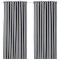 шторы блокирующие свет МАЙГУЛЛ серый 290x300 см ИКЕА IKEA