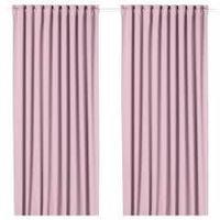 шторы блокирующие свет МАЙГУЛЛ светло-розовый  290x300 см ИКЕА IKEA, фото 1