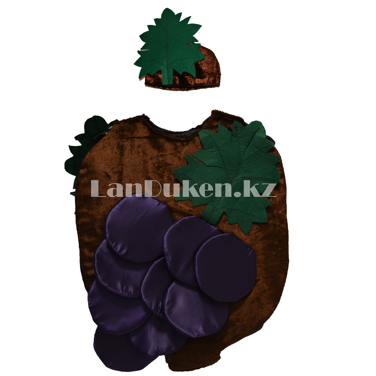 Карнавальный костюм детский овощи и фрукты (01) 24-32 р виноград - фото 1