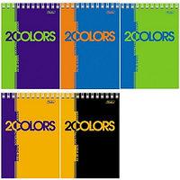"""Блокнот А6 80л. на гребне Hatber""""2colors"""""""