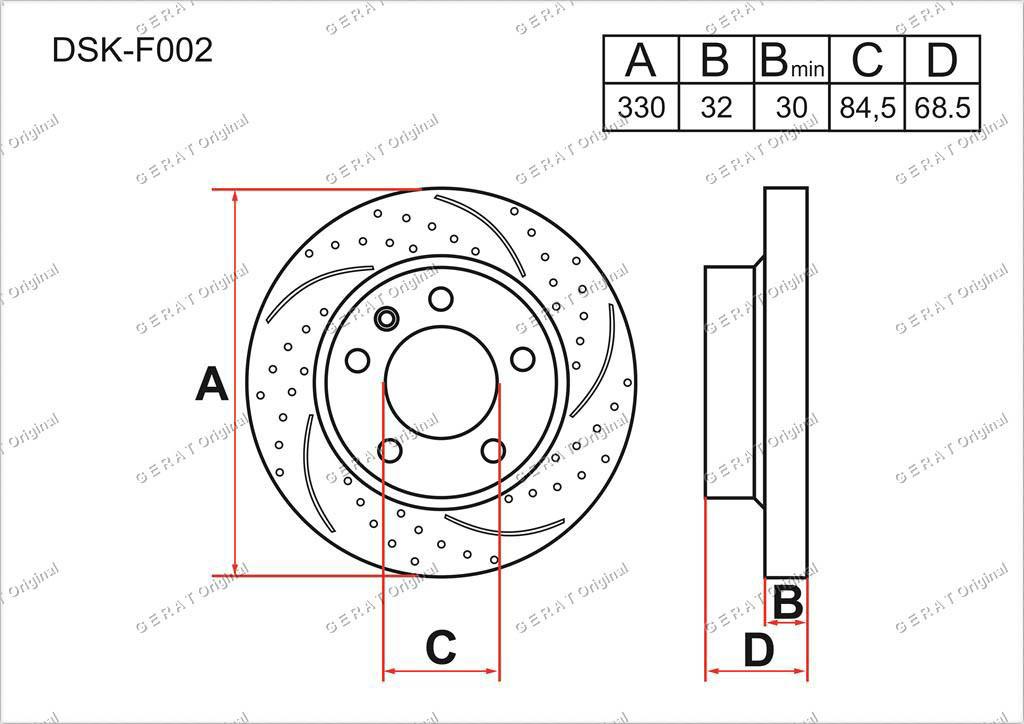 Диск тормозной передний комплект (2шт.) 95535140140