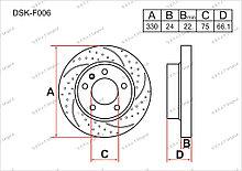 Диск тормозной передний комплект (2шт.) 34116794429