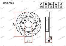 Диск тормозной передний комплект (2шт.) 34116771986