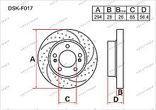 Диск тормозной передний комплект (2шт.) 4144109111