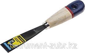 """Шпательная лопатка STAYER """"PROFI"""" c нержавеющим полотном, деревянная ручка, 30мм"""