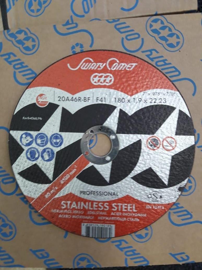 Круг отрезной Inox&Metal 180 х 1,9 х 22.23 SwatyComet 20A46R-BF (Weiler Abrasives, Slovenija)