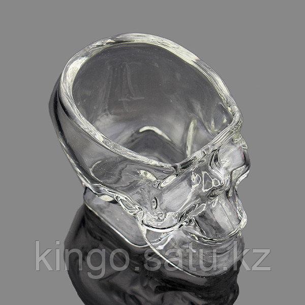 """Кружка-рюмка """"череп"""" прозрачная 100 мл, тяжелая - фото 4"""