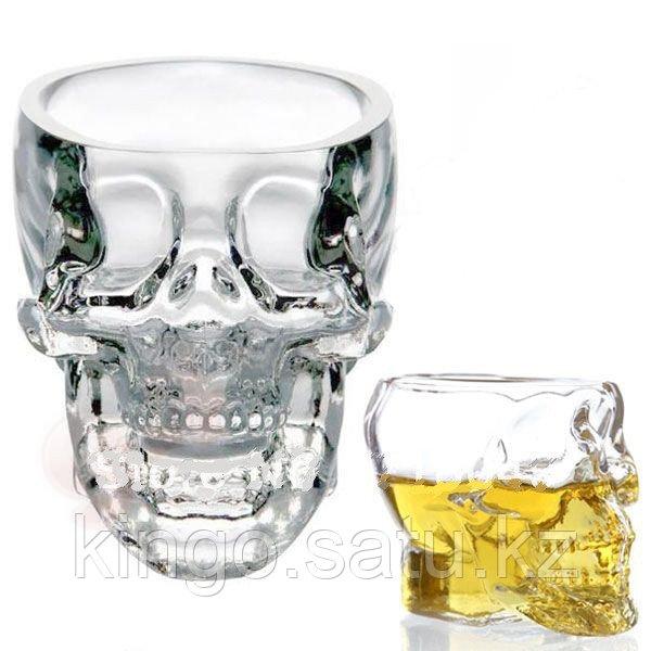"""Кружка-рюмка """"череп"""" прозрачная 100 мл, тяжелая - фото 6"""
