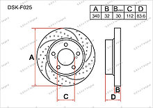 Диск тормозной передний комплект (2шт.) 4351260180