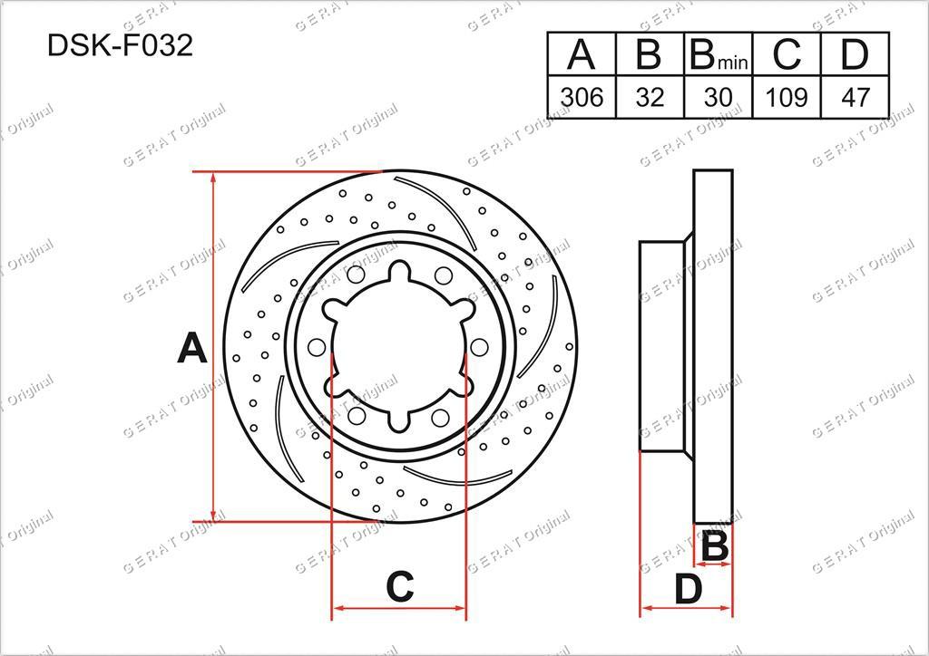 Диск тормозной передний комплект (2шт.) 40206VB001