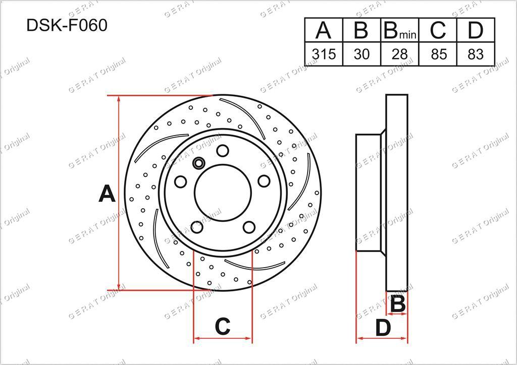 Диск тормозной передний комплект (2шт.) A4634210312