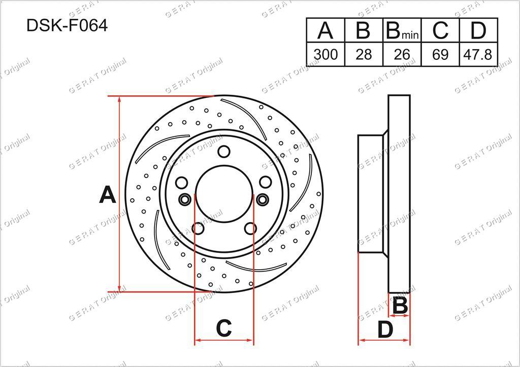 Диск тормозной передний комплект (2шт.) 517123K100