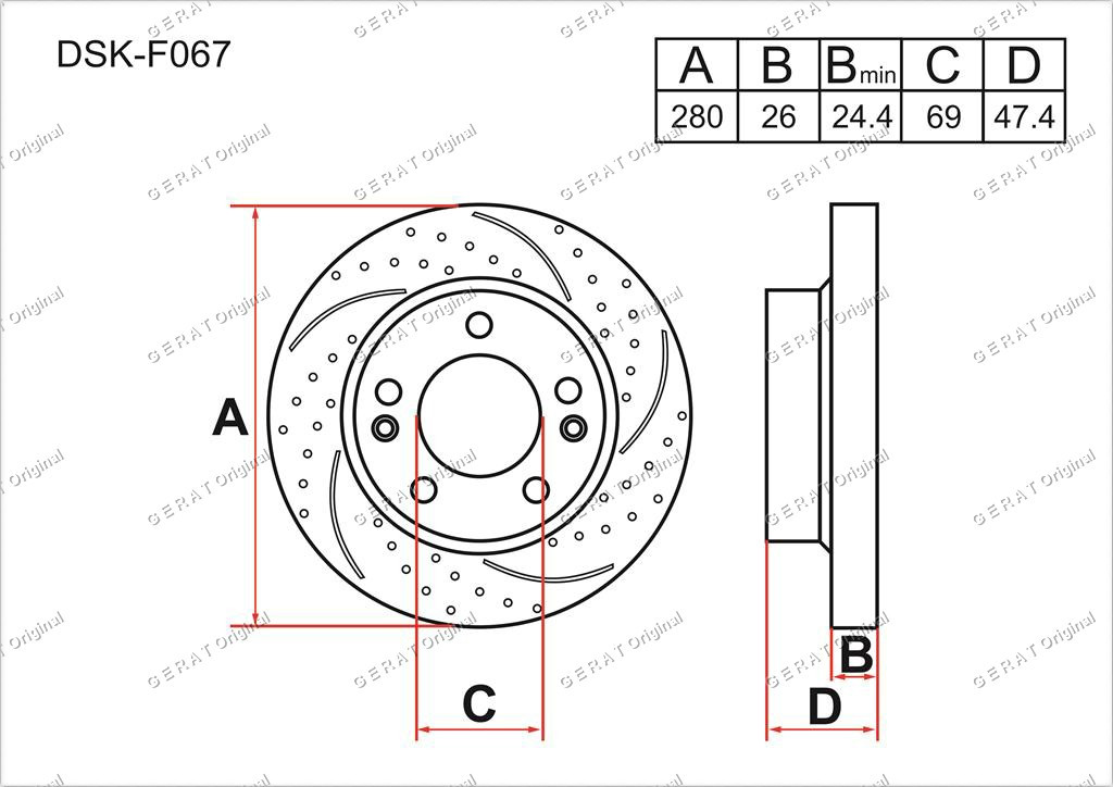Диск тормозной передний комплект (2шт.) 517122C000