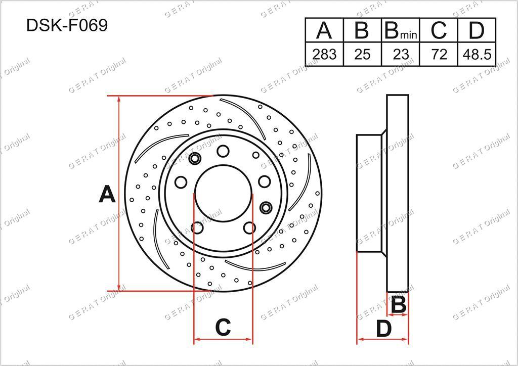 Диск тормозной передний комплект (2шт.) G26Y3325XA