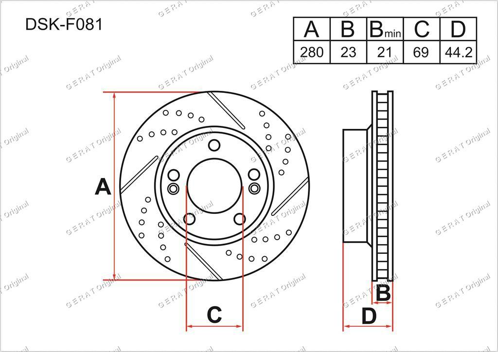 Диск тормозной передний комплект (2шт.) 517123X000