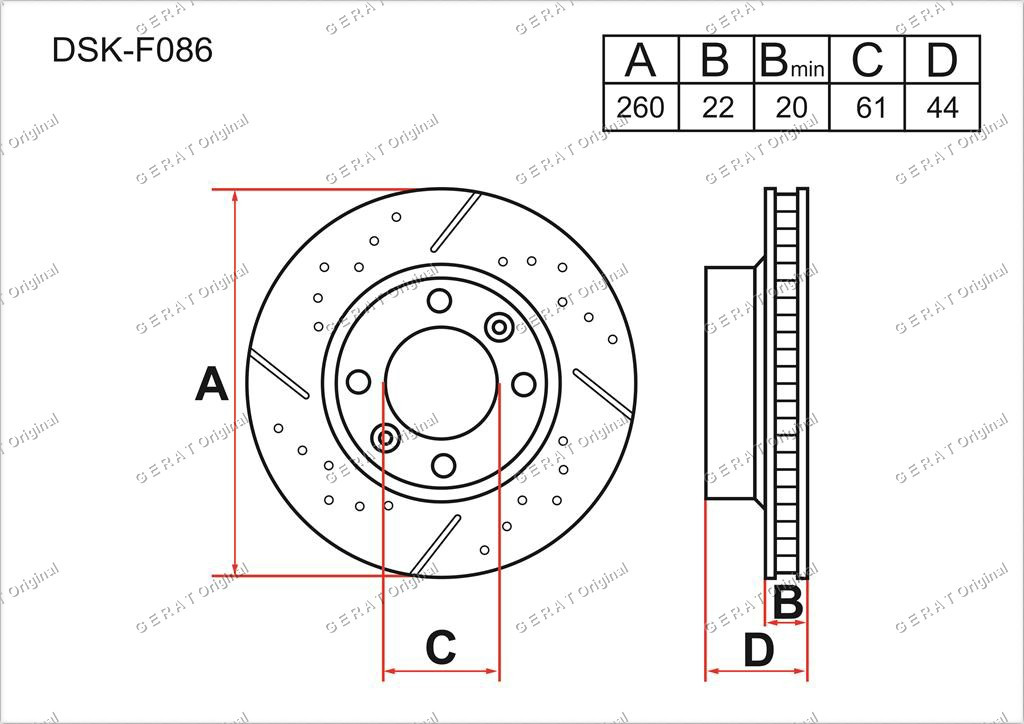 Диск тормозной передний комплект (2шт.) 402066478R