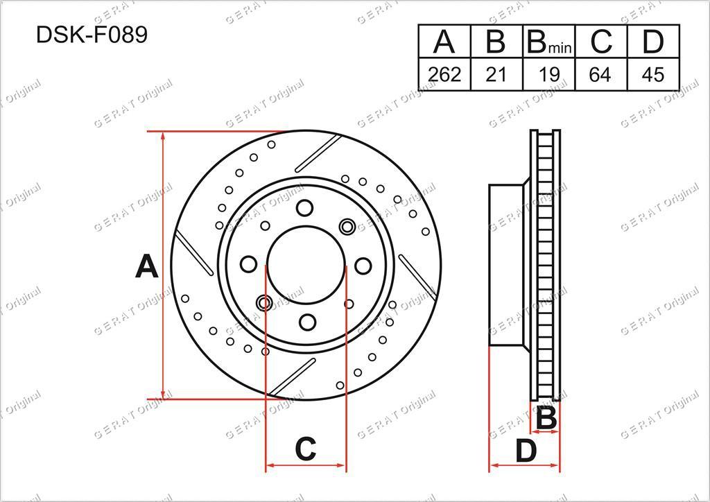 Диск тормозной передний комплект (2шт.) 45251SCC000