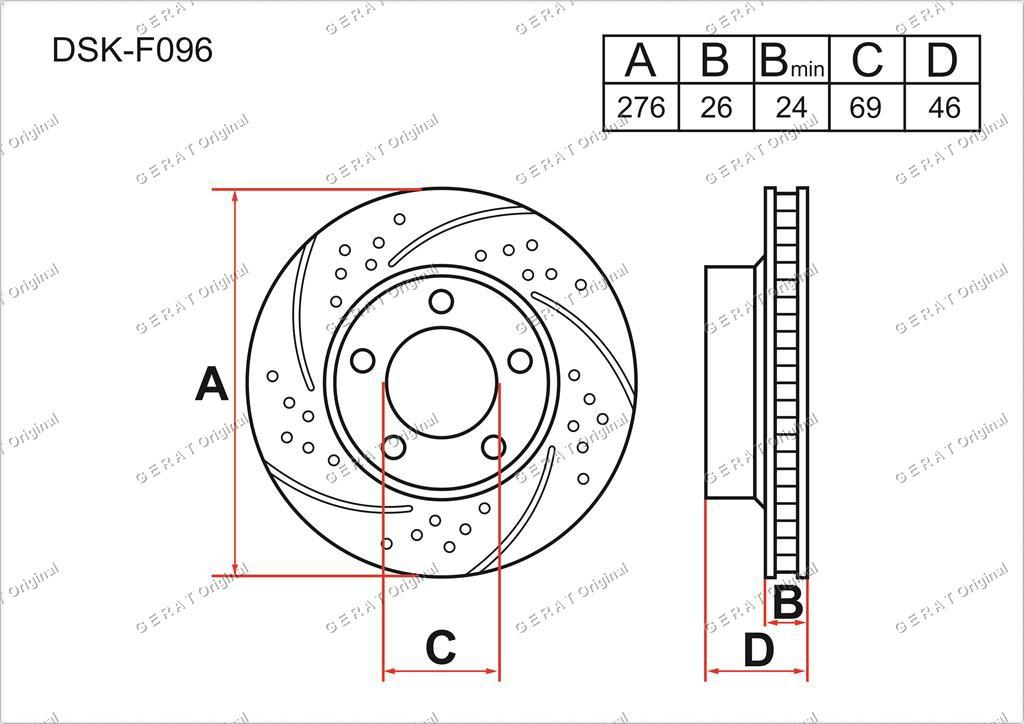 Диск тормозной передний комплект (2шт.) 4615A190