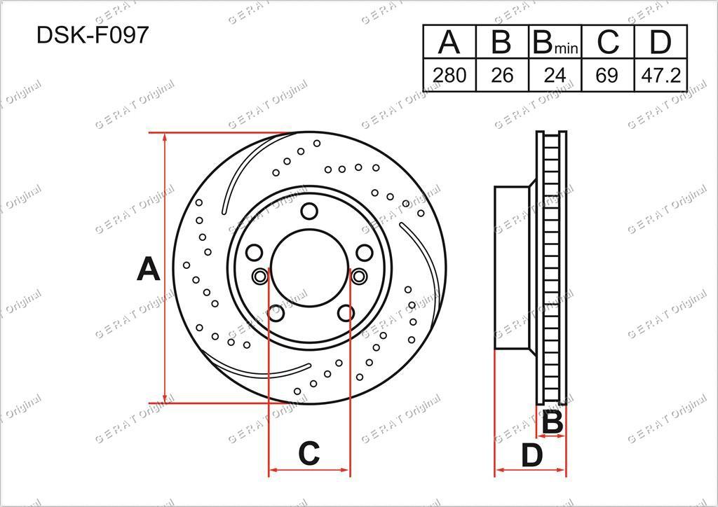 Диск тормозной передний комплект (2шт.) 517121H100