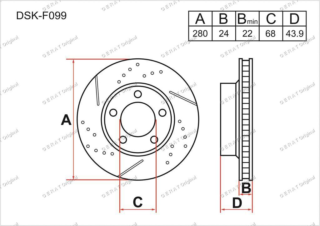 Диск тормозной передний комплект (2шт.) 402061KA3A