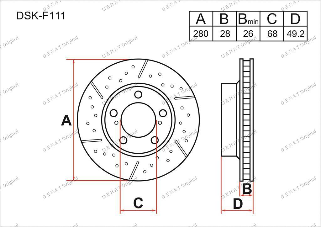 Диск тормозной передний комплект (2шт.) 402064U107