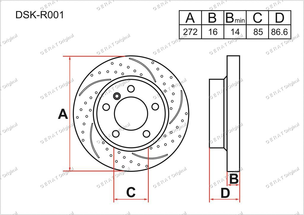 Диск тормозной задний комплект (2 шт.) 9024230112