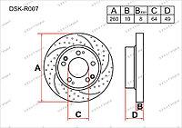 Диск тормозной задний комплект (2 шт.) 42510SEAE00