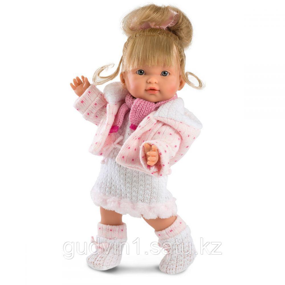 LLORENS: Кукла Валерия 28см, блондинка в розовой курточке