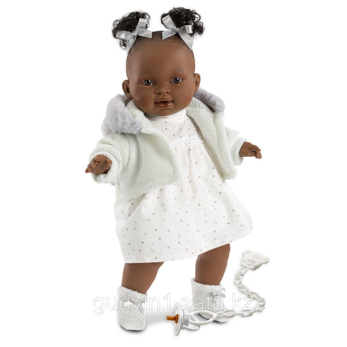 LLORENS: Кукла Диана 38см, афро в белой курточке