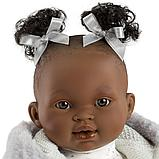 LLORENS: Кукла Диана 38см, афро в белой курточке, фото 4