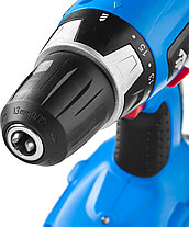 Аккумуляторная дрель шуруповерт ЗУБР ЗДА-18-2 КИН20, аккум, 10мм, 0-400/0-1150об/мин, 2.0 А/ч, 18В, эл тормоз, фото 3