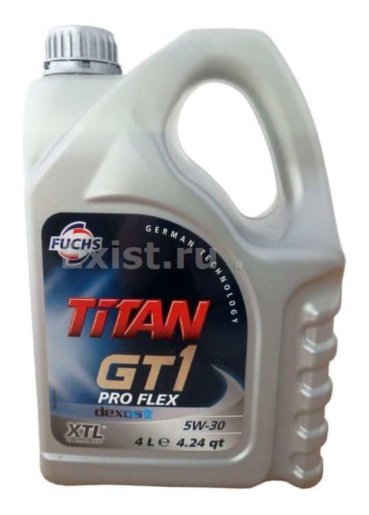 TITAN GT1 PRO FLEX dexos2 5W-30 FUCHS 4L  (Германия)