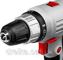 Шуруповерт сетевой ЗУБР ЗСШ-300-2, максимальный диаметр крепежа 6 мм, 0-400/0-1400 об, БЗП 10 мм, 300 Вт, фото 3