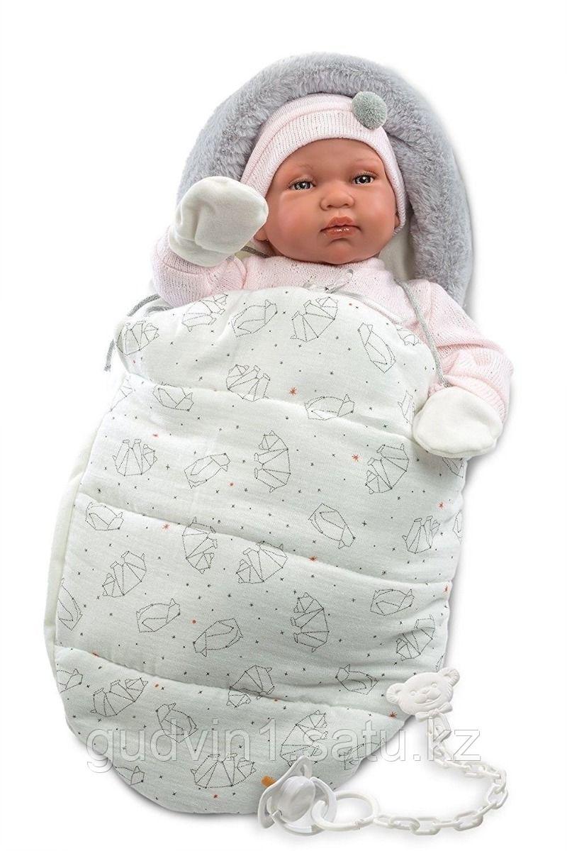 LLORENS: Кукла малышка 44 см с теплым конвертом-переноской
