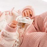 LLORENS: Кукла малышка 35 см в роз.шапочке с пумпоном с одеялом 63546, фото 5
