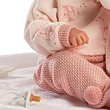 LLORENS: Кукла малышка 35 см в роз.шапочке с пумпоном с одеялом 63546, фото 6