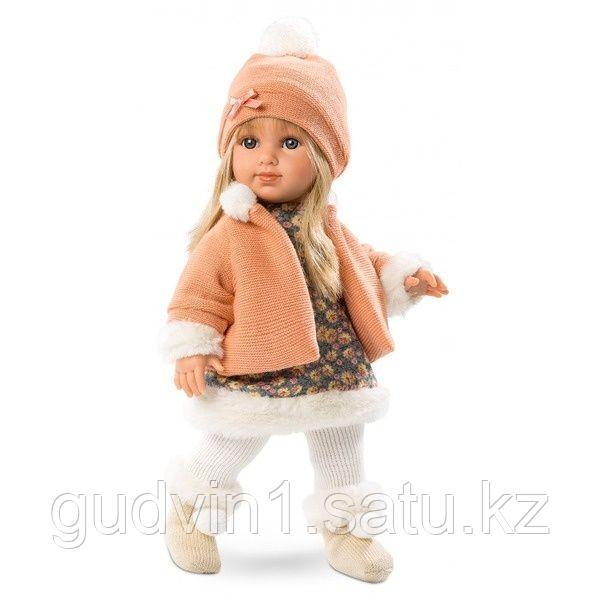 LLORENS: Кукла Елена 35см, блондинка в персиковом жакете
