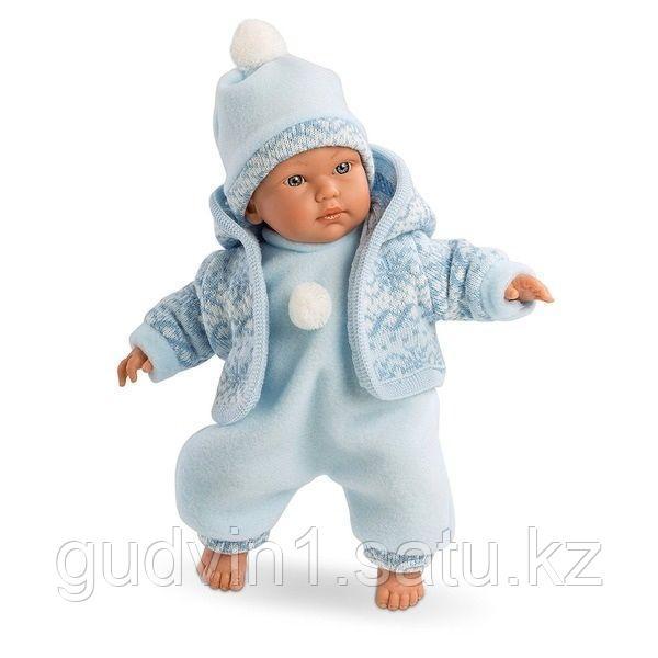 LLORENS: Кукла мылыш 30см в голубом костюме