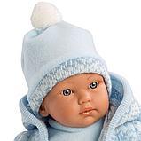 LLORENS: Кукла мылыш 30см в голубом костюме, фото 2