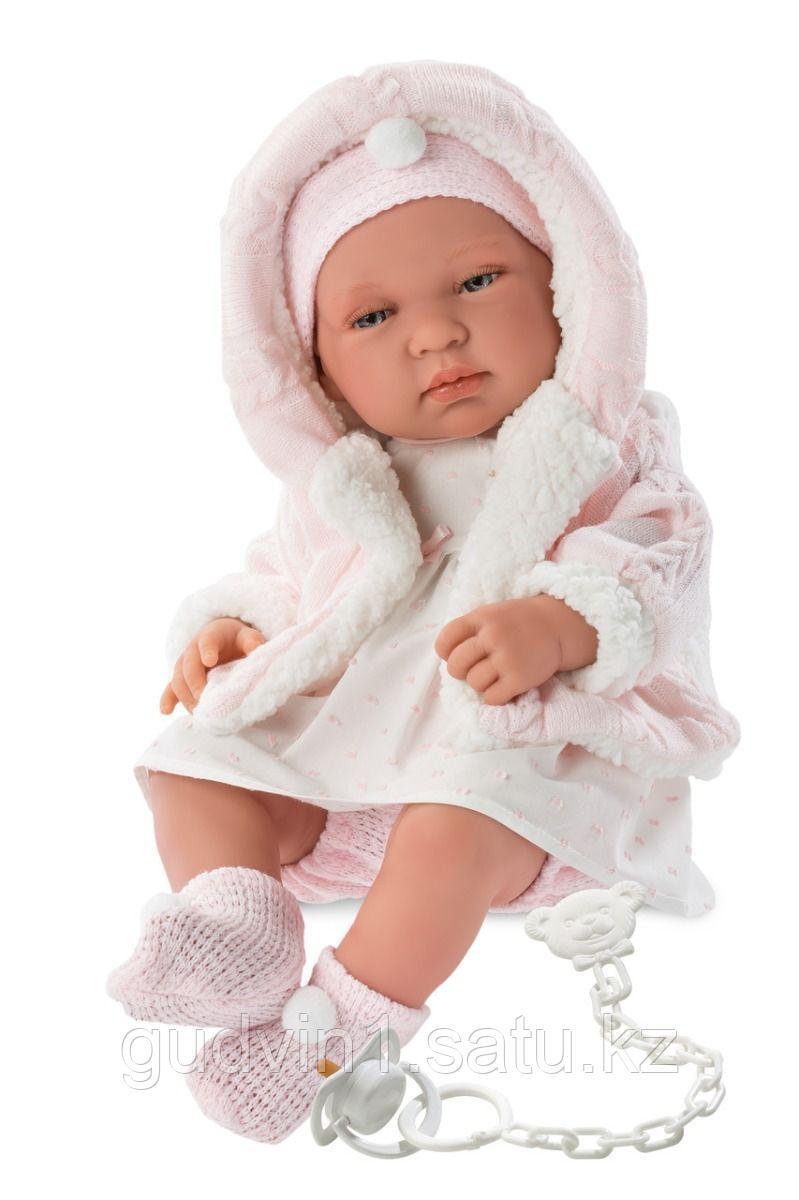 LLORENS: Кукла малыш Тино 43см, в розовой курточке 84312
