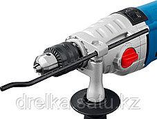Дрель ударная электрическая ЗУБР ЗДУ-1100-2 ЭРМКМ2, 2 скоростная, металлический корпус редуктора, патрон 13 мм, фото 3