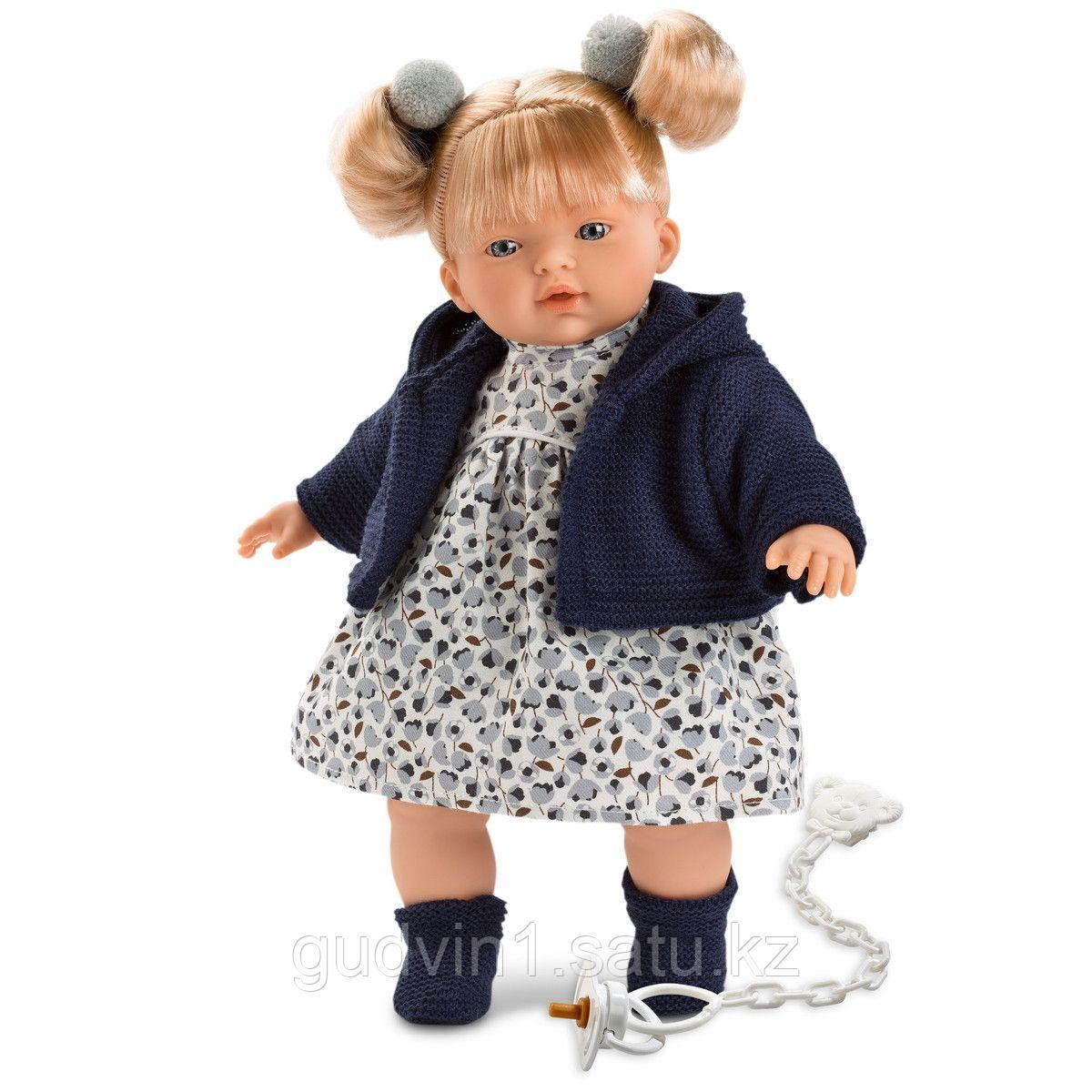 LLORENS: Кукла малышка Изабела 33см, блондинка в темно-синей курточке