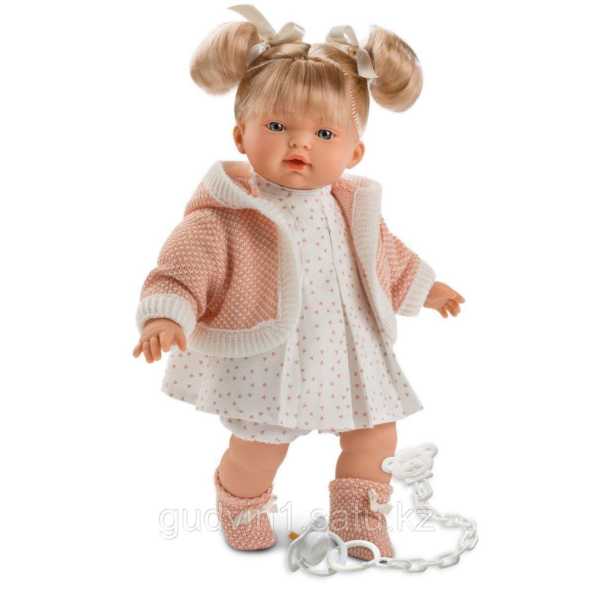 LLORENS: Кукла малышка Роберта 33 см, блондинка в розовой курточке 1024101