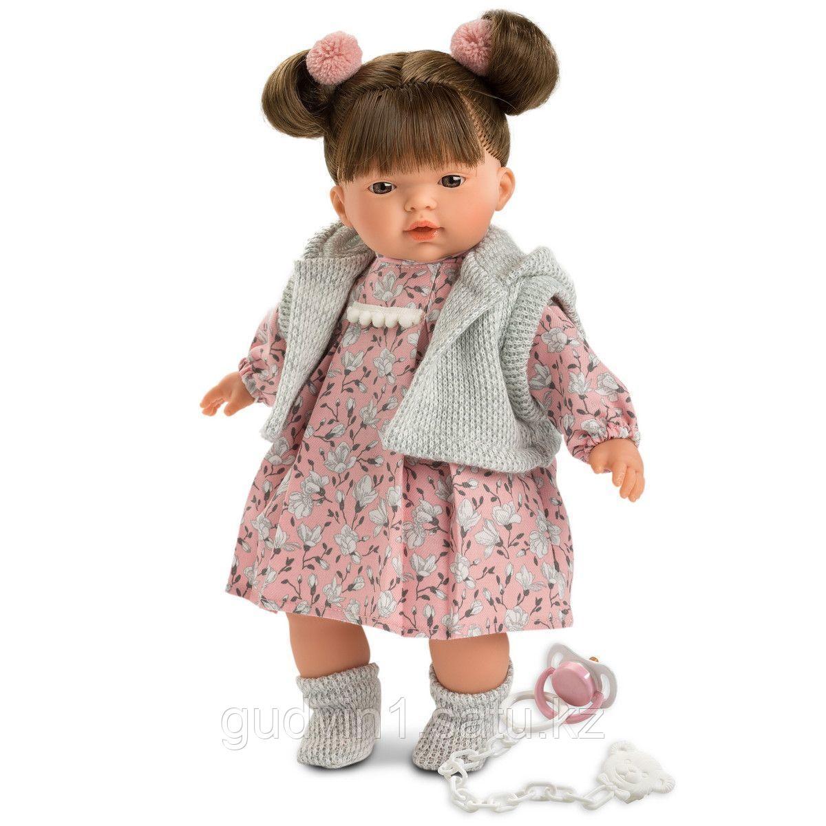 LLORENS: Кукла малышка Татьяна 33см, брюнетка в серой курточке