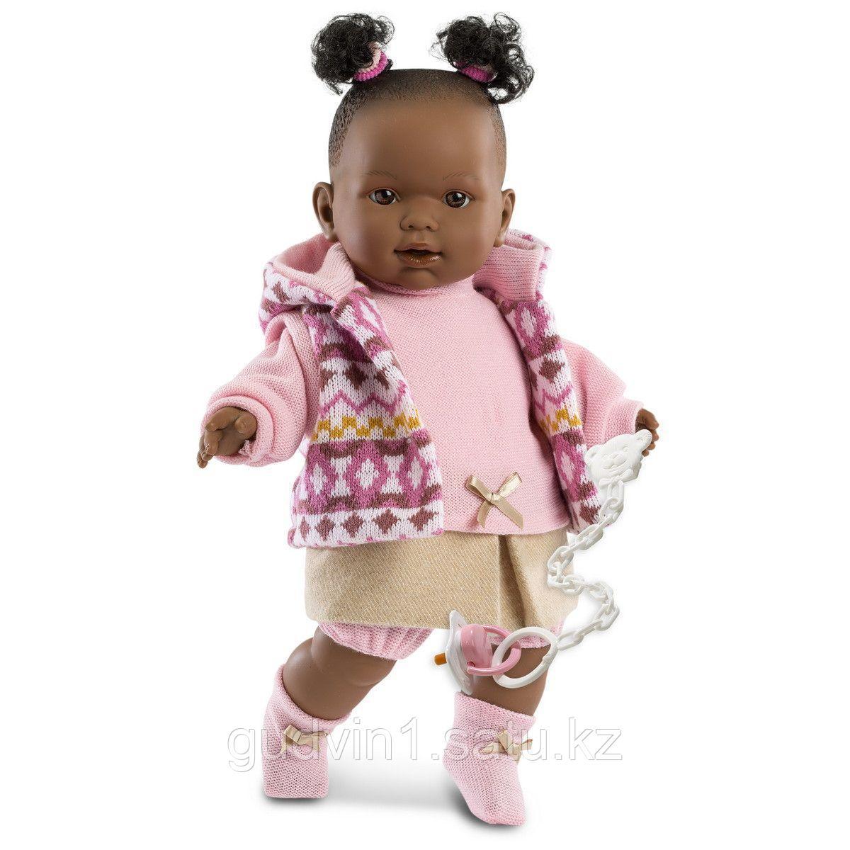 LLORENS: Кукла Николь 42см, афро в цветной курточке 42640