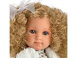 LLORENS: Кукла Елена 35см, блондинка в бирюзовой юбке, фото 2