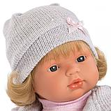 LLORENS: Кукла Лола 38см, блондинка в серой шапочке, фото 2