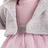 LLORENS: Кукла Лола 38см, блондинка в серой шапочке, фото 5