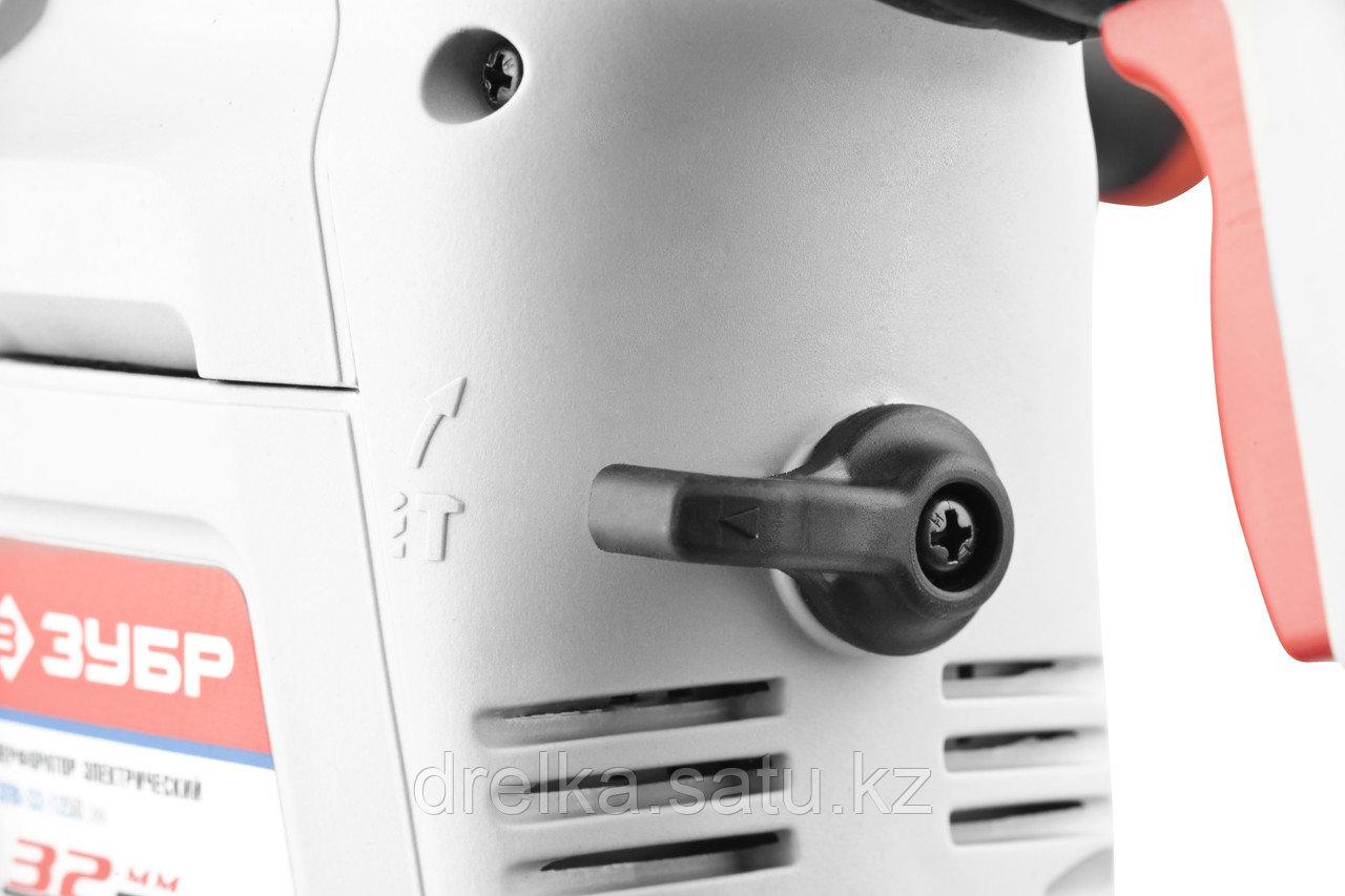 Перфоратор ЗУБР ЗПВ-32-1250 ЭВК, SDS-plus, вертикальный, 3,5Дж, 730об/мин, 4000уд/мин, 1250Вт, кейс - фото 3